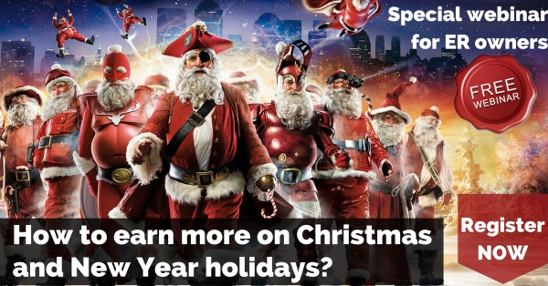 "NEW Webinar ""How to earn more on Christmas and New Year holidays?"""